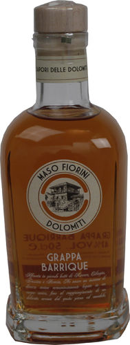 Grappa Barrique Dolomiti Maso Fiorini 0,5 l 41% Vol.