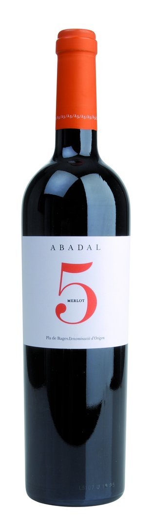5 Merlot Pla de Bages DO Abadal